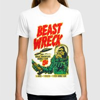 50s T-shirts featuring BEASTWRECK ATTACKS! by BeastWreck