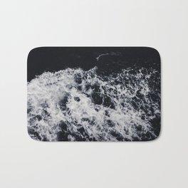 OCEAN - WAVES - SEA - ROCKS - DARK - WATER Bath Mat