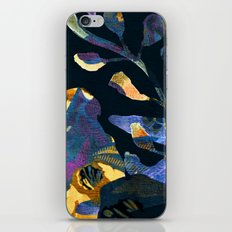 blue abstract floral iPhone Skin