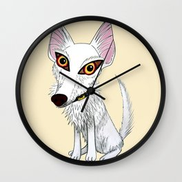Jango, el podenquito blanco Wall Clock