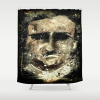 edgar allan poe Shower Curtains featuring Edgar Allan Poe by Anso Strange