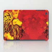 the lion king iPad Cases featuring Lion King by RICHMOND ART STUDIO