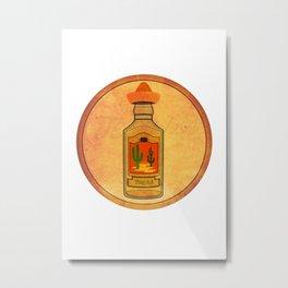Retro Tequila Metal Print