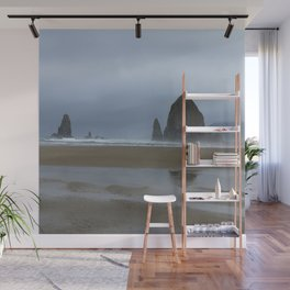 Misty Morning at Cannon Beach Wall Mural