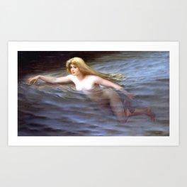 "Luis Ricardo Falero ""Sea nymph or Nymphe"" Art Print"