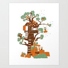 Mon arbre Art Print