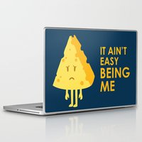 sayings Laptop & iPad Skins featuring It ain't easy being cheesy by Picomodi