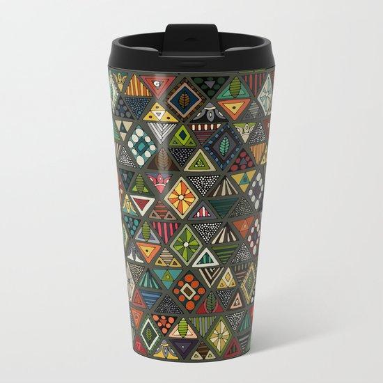 sun bear geo dark Metal Travel Mug