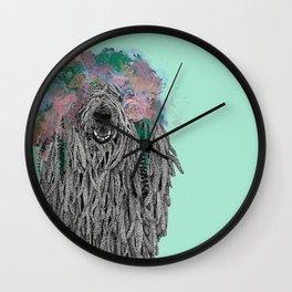 Dredlock Dog (Pastel Aqua Edition) Wall Clock