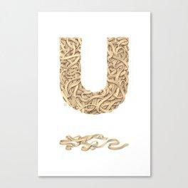 U is for Udon Noodles Canvas Print