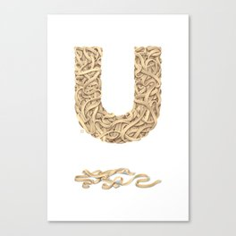 U is for Udon Noodles Canvas Print
