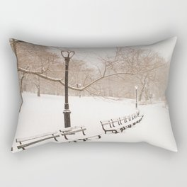 Snowing in Central Park Rectangular Pillow