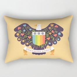 Dreaming (not Screaming) Eagle Rectangular Pillow