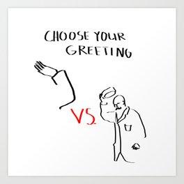Methods of greeting people Art Print