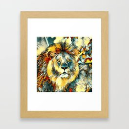 AnimalArt_Lion_20170603_by_JAMColorsSpecial Framed Art Print