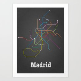 Madrid Subway Art Print