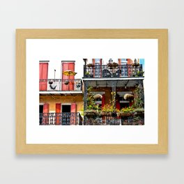 French Quarter Balcony Framed Art Print