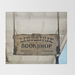 Librairie Bookshop Throw Blanket