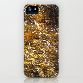 Water On Dark Stone iPhone Case