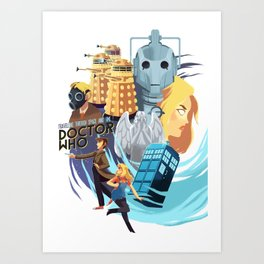 Doctor Who - Rose and the Doctor Art Print