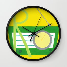 R is for Radio Wall Clock