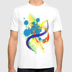 flying paint White Mens Fitted Tee MEDIUM