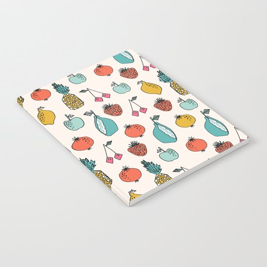 Tutti Fruit - Cream by Andrea Lauren Notebook