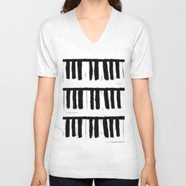 Piano Unisex V-Neck