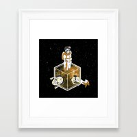 space dandy Framed Art Prints featuring Space Dandy - Welcome to Dimension X by fanart.cl