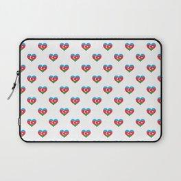 Azerbaijan Love flagMotif Repeat Pattern design background  Laptop Sleeve