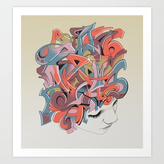 Graffiti Head Art Print