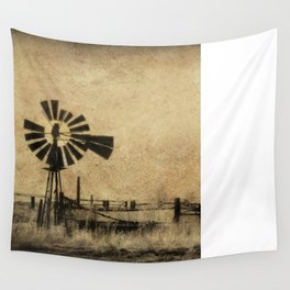 Old Windmill • Sepia • Western • Infrared • Texture Wall Tapestry