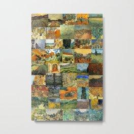 Vincent van Gogh Montage Metal Print