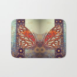 Golden Butterfly Bath Mat