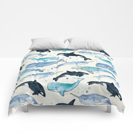 Whales, Orcas & Narwhals Comforters