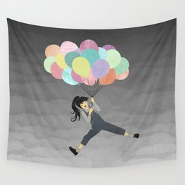 Balloon Ride Wall Tapestry