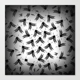 Moth swarm Canvas Print
