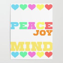 Spread the Love with this Peace of mind Tshirt Design Give me all the peace Poster
