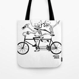 Caveirinhas - Bicicleta Girassol Tote Bag
