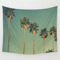 hollywood Wall Tapestries featuring Hollywood Summer  by Amy J Smith Photography