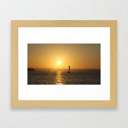 Sunset in San Diego Framed Art Print