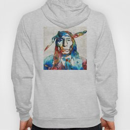 Native American Art - Warrior - By Sharon Cummings Hoody