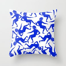 HOPLITES in Blue Throw Pillow