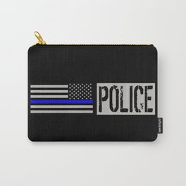 Police: Police Flag (Thin Blue Line) Carry-All Pouch