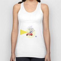 motorbike Tank Tops featuring Red motorbike by Yyemin K.