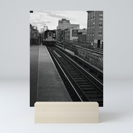 Black and White J Train Mini Art Print