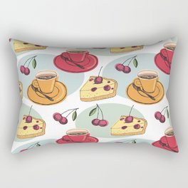 Cherry Pie And A Hot Cup Of Coffee Rectangular Pillow
