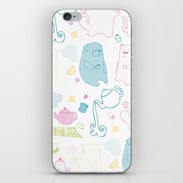 It's A Tea Party iPhone Skin