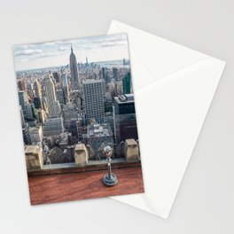 Coin operate viewfinder at Rockefeller Center Stationery Cards