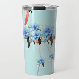 Flower Flamingo #1 #floral #decor #art #society6 Travel Mug